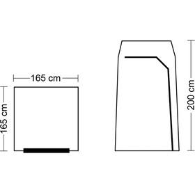 CAMPZ Dusch- & Gerätezelt beige/grau